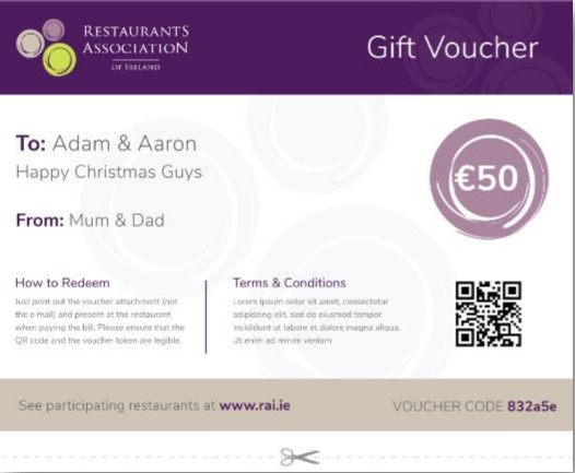 Sign up for the RAI Gift Voucher