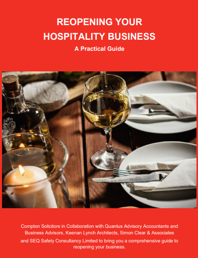 """Reopening Your Hospitality Business – A Practical Guide"" is now available."