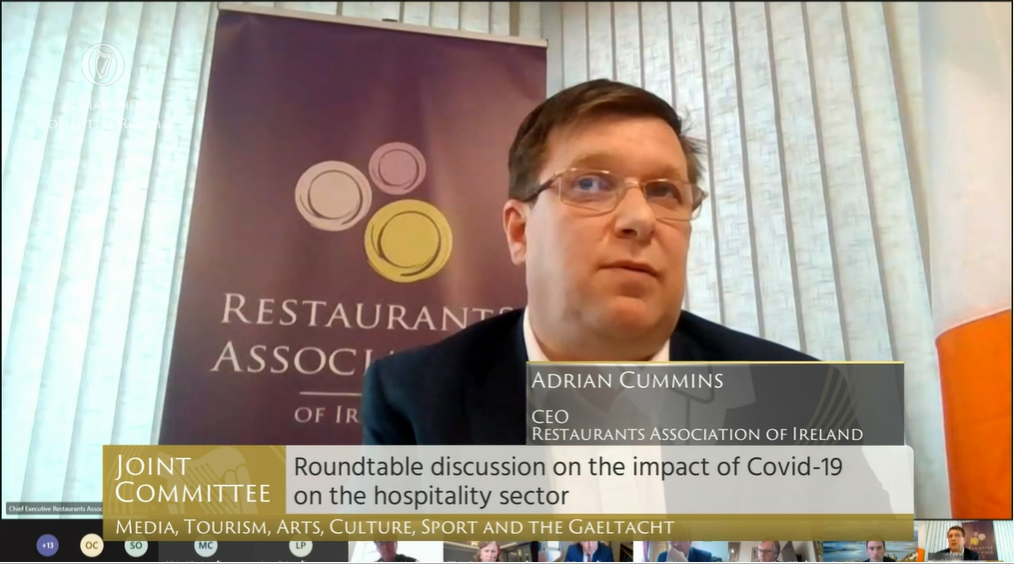 Restaurants Association of Ireland Opening Statement 23rd March 2021- Joint Committee on Media, Tourism, Arts, Culture, Sport and the Gaeltacht